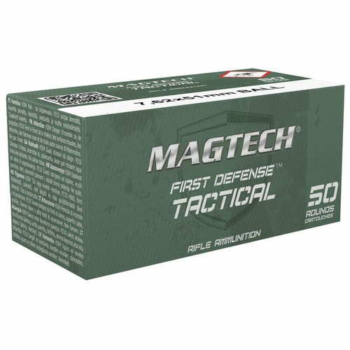 Magtech Ammunition - 7.62x51mm NATO M80 - 147 Grain Full Metal Jacket - 50 Rounds - Brass Case