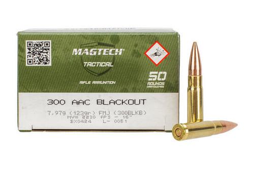 Magtech Ammunition - 300 AAC Blackout - 123 Grain Full Metal Jacket - 50 Rounds