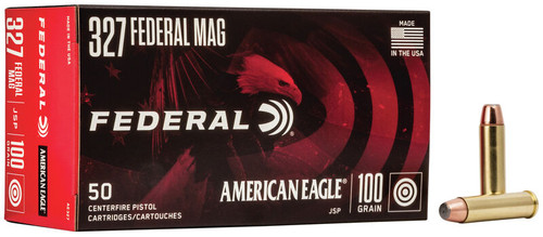 Federal American Eagle Ammunition - 327 Federal Mag - 100 Grain Jacketed Soft Point - 50 Rounds