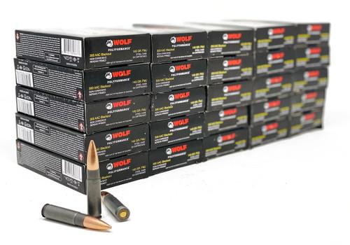 Wolf Performance Ammunition - 300 AAC Blackout - 145 Grain - Full Metal Jacket - 20 Rounds - Steel Case