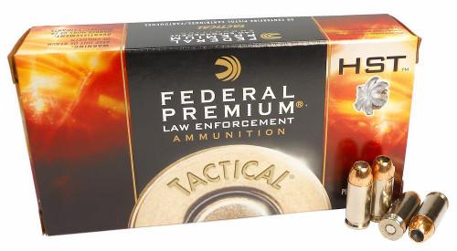 Federal Premium Ammunition - 40 S&W - 165 Grain HST Hollow Point - 50 Rounds - Nickel Plated Brass