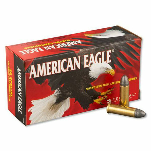 Federal American Eagle Ammunition - 38 Special - 158 Grain Lead Round Nose - 50 Rounds - Brass Case