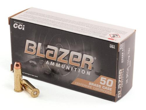 Blazer Ammunition - 38 Special - 125 Grain Full Metal Jacket - 50 Rounds - Brass Case