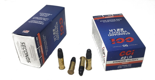 CCI Standard Velocity Ammunition - 22 Long Rifle - 40 Grain Lead Round Nose - 500 Rounds W/ Free Ammo Can - FACTORY SECONDS