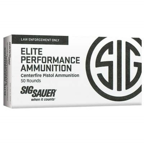 Sig Sauer Elite Performance - 40 S&W 165 Grain V-Crown Jacketed Hollow Point - 1000 Rounds - Brass Case