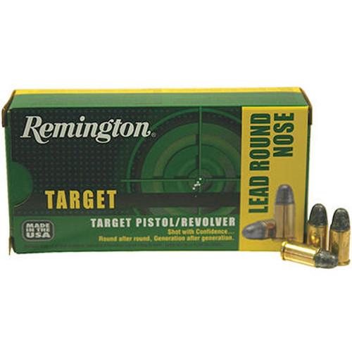 Remington Wheel Gun Ammunition - 38 Short Colt - 125 Grain Lead Round Nose - 50 Rounds - Brass Case
