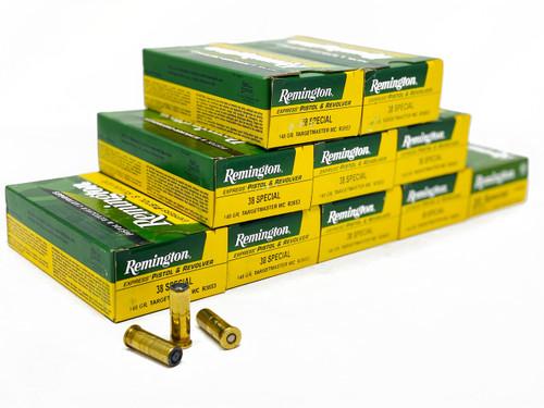 Remington Ammunition - 38 Special - 148 Grain Hollow Base Wad Cutter - 50 Rounds - Brass Case