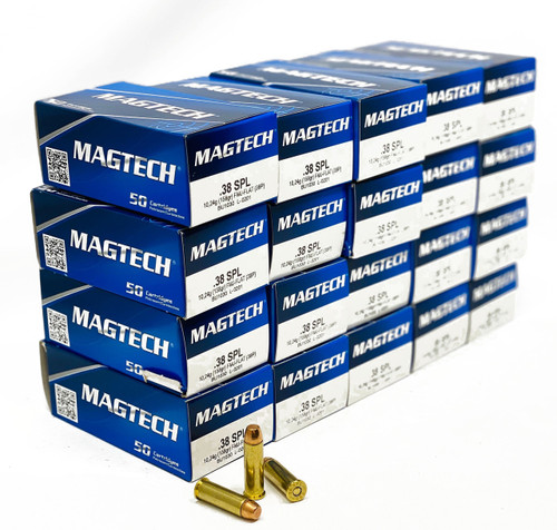Magtech Ammunition - 38 Special - 158 Grain Full Metal Jacket - 50 Rounds  - Brass Case