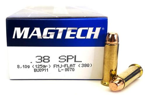 Magtech Ammunition - 38 Special - 125 Grain Full Metal Jacket - 50 Rounds - Brass Case