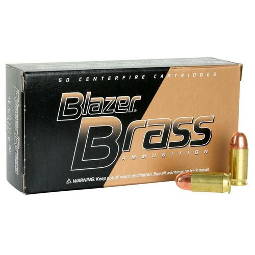 CCI Blazer Ammunition - 45 Auto - 230 Grain Full Metal Jacket - 50 Rounds - Brass Case