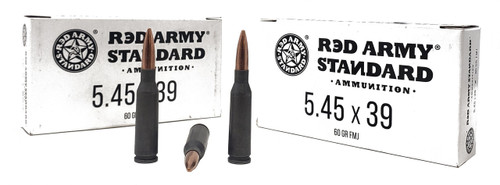Red Army Ammunition - 5.45x39MM - 60 Grain Full Metal Jacket - 1000 Rounds - Steel Case
