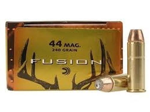 Federal Fusion Ammunition - 44 Rem Magnum - 240 Grain Fusion Hollow Point - 20 Rounds - Brass Case