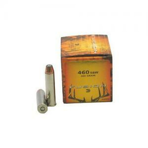 Federal Fusion Ammunition - 460 S&W - 260 Grain Fusion Soft Point - 20 Rounds - Brass Case