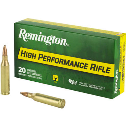 Remington High Performance Ammunition - 243 Winchester - 80 Grain Pointed Soft Point - 20 Rounds - Brass Case