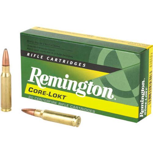 Remington Core-Lokt Ammunition - 308 Win - 180 Grain Soft Point - 20 Rounds - Brass Case