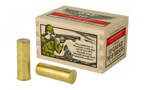 """Winchester WWII Victory Series Ammunition - 12 GA - 2 3/4"""" - 00 Buck - 9 Pellets - 5 Rounds"""