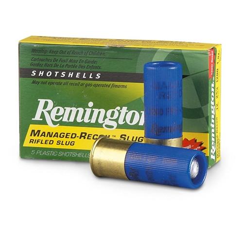 "Remington Managed Recoil Ammunition - 12 Gauge - 2 3/4"" - 1 oz. Slug - 5 Rounds"