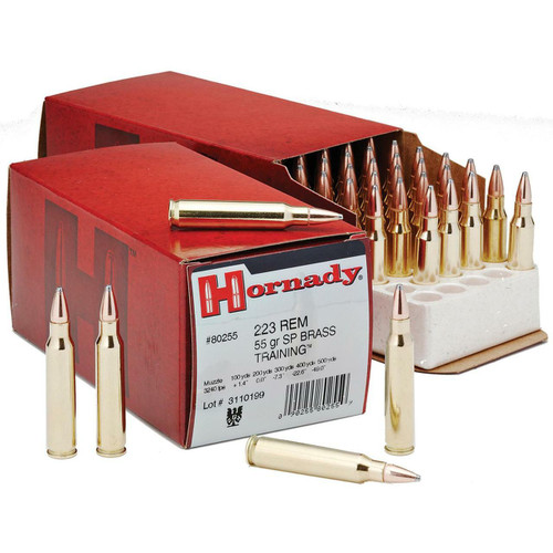 Hornady Ammunition - 223 Remington - 55 Grain Spire Point - 50 Rounds - Brass Case