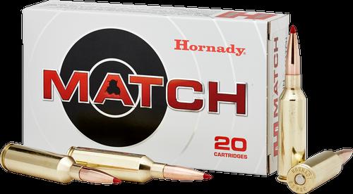 Hornady Match Ammunition - 6.5 PRC - 147 Grain ELD Match - 20 Rounds - Brass Case
