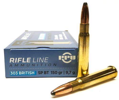 Prvi Partizan Ammunition - 303 British - 150 Grain Soft Point  - 20 Rounds - Brass Case