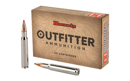 Hornady Outfitter Ammunition - 30-06 Springfield - 180 Grain GMX (Lead Free) - 20 Rounds - Nickel Plated Brass