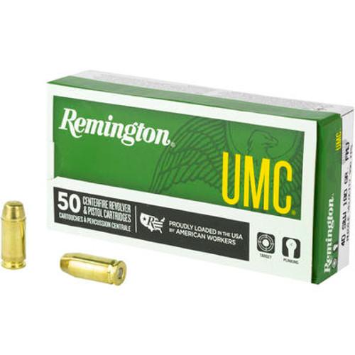 Remington UMC Ammunition - 40 S&W - 180 Grain Full Metal Jacket - 50 Rounds - Brass Case
