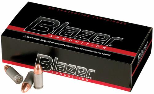 CCI Blazer Ammunition - 9 MM Luger - 115 Grain Full Metal Jacket - 50 Rounds - Aluminum Case