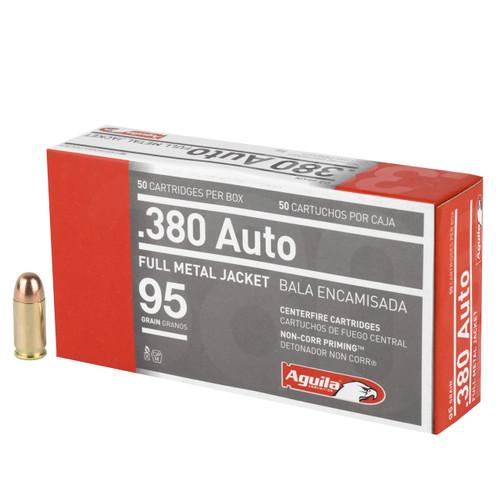 Aguila Ammunition - 380 Auto - 95 Grain Full Metal Jacket - 50 Rounds - Brass Case