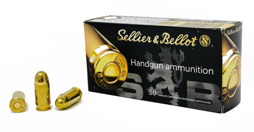 Sellier & Bellot Ammunition - 380 Auto - 92 Grain Full Metal Jacket - 50 Rounds - Brass Case