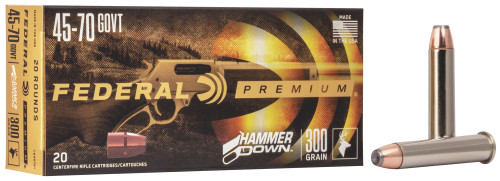 Federal Premium Ammunition - 45-70 Government - 300 Grain Bonded Soft Point - 20 Rounds - Nickel Plated Brass Case