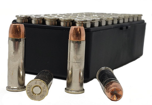 Miwall Reload Ammunition - 38 Special - 158 Grain Gold Dot Hollow Point - 100 Rounds - Nickel Plated Brass Case