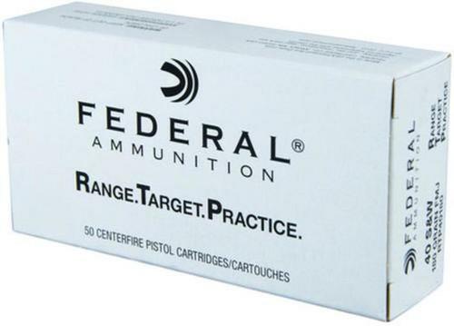 Federal Range & Target Ammunition - 40 S&W - 180 Grain Full Metal Jacket - 50 Rounds - Brass Case