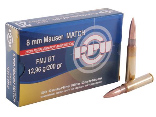 Prvi Partizan Match Ammunition - 7.92x57mm Mauser (8mm Mauser) - 200 Grain Full Metal Jacket - 100 Rounds W/ Ammo Can