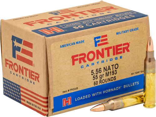 Frontier - 5.56 NATO 55 Grain Full Metal Jacket (M193) - 500 Rounds - Brass Case