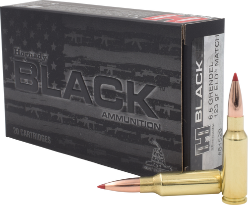 Hornady BLACK Ammunition 6.5 Grendel 123 Grain ELD Match - 200 Rounds - CASE