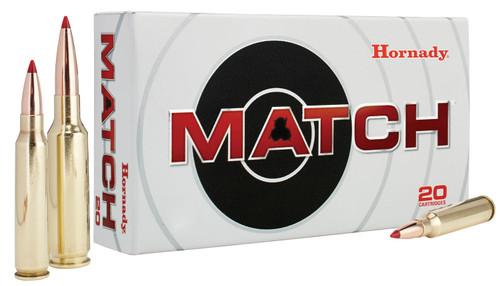 Hornady Match Ammunition - 6.5 Creedmoor - 147 Grain ELD Match - 20 Rounds - Brass Case
