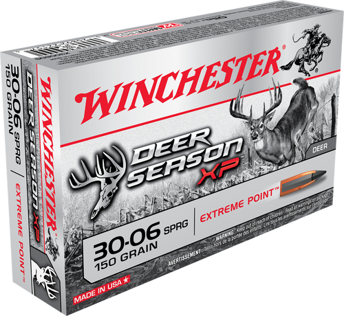 Winchester Deer Season XP - 30-06 Springfield 150 Grain Extreme Point Polymer Tip - 200 Rounds - Brass Case