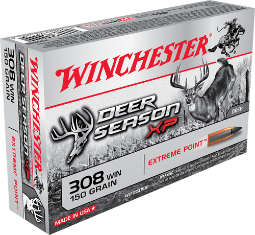 Winchester Deer Season XP Ammunition - 308 Winchester - 150 Grain Extreme Point - 200 Rounds - Case