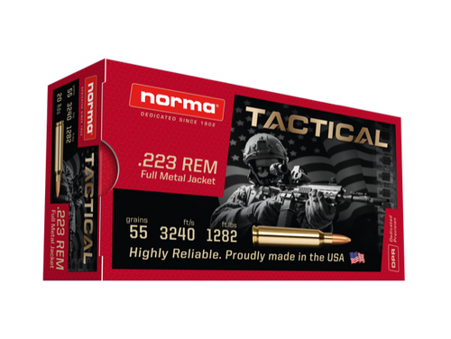 Norma Ammunition 223 Remington 55 Grain Full Metal Jacket