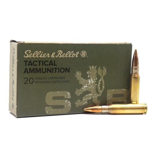 Sellier & Bellot Ammunition 7.62x51mm NATO 147 Grain Full Metal Jacket - 500 Rounds - CASE ***LIMIT 5 PER ORDER***