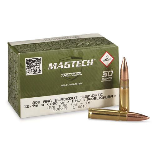Magtech  Ammunition - 300 AAC Blackout - 200 Grain Full Metal Jacket - 200 Rounds W/ Free Ammo Can