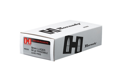 Hornady 9mm Luger 90 Grain Frangible LE - 500 Rounds - Brass Case