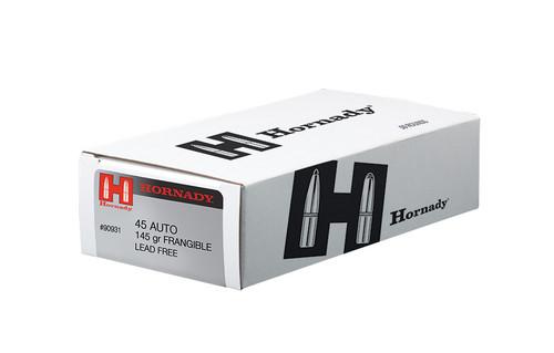 Hornady Ammunition 45 Auto 145 Grain Frangible LE - 500 Rounds - CASE