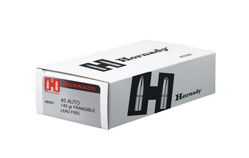Hornady 45 Auto 145 Grain Frangible LE - 500 Rounds - Brass Case