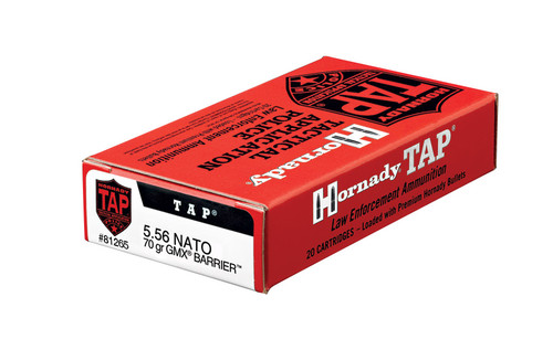 Hornady Ammunition 5.56 NATO 70 Grain GMX TAP Barrier LE - 200 Rounds - CASE