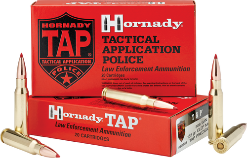 Hornady 308 Win 155 Grain ELD Match TAP Precision LE - 200 Rounds - CASE