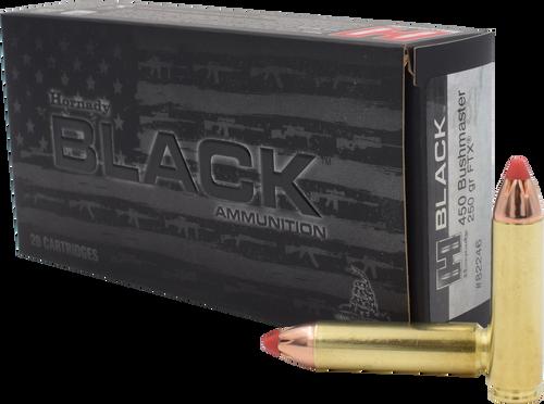 Hornady Ammunition 450 Bushmaster 250 Grain FTX Black - 200 Rounds - CASE