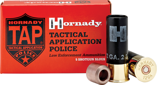Hornady 12 Gauge Frangible 3/4 Oz Slug TAP Entry LE - 100 Rounds - CASE