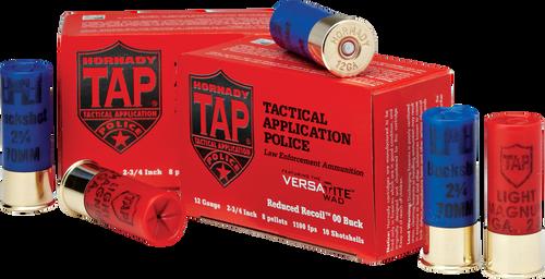 Hornady 12 Gauge TAP Light Magnum 00 Buck LE - 100 Rounds - CASE
