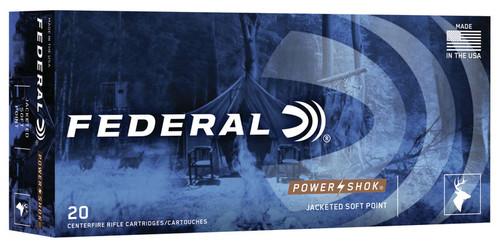 Federal Power-Shok 30 Carbine 110 Grain Soft Point - 200 Rounds - Brass Case